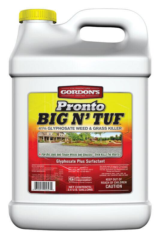 Gordons Pronto Tuf Concentrado Hierba y Big N Weed Killer 2.5 galones GAL.