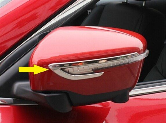 S.steel rearview mirror side molding Chrome trim For Nissan Qashqai 2014+