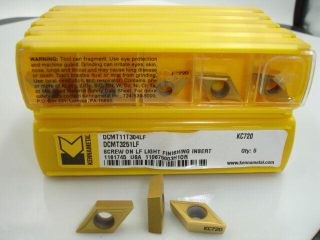 DCMT 32.51LF KC720 KENNAMETAL Carbide Inserts (10pcs) 1359