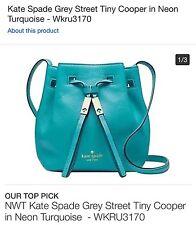 NWT -Kate Spade Grey Street Tiny Cooper Crossbody - Neon Turquoise