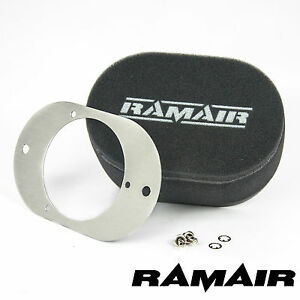 RAMAIR Carb Luftfilter mit Grundplatte Weber 23/32 Tld 40mm Bolzen Auf
