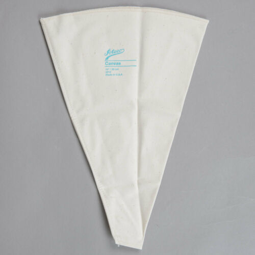 """Set of 3 Ateco 14/"""" /& 21/"""" Canvas Pastry Piping Bag w//Large Coupler Icing Dessert"""