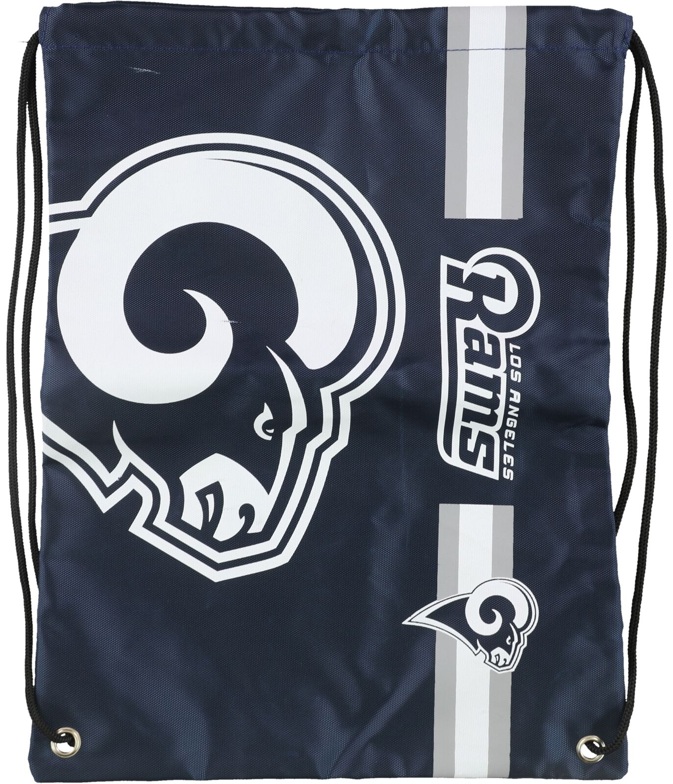 Forever Collectibles Mens LA Rams Drawstring Standard Backpack navy