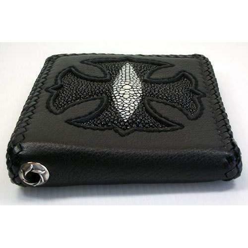 Stingray Leather Biker Wallet