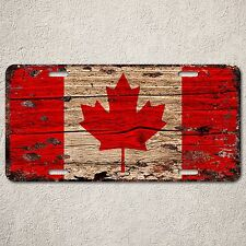 LP0121 Canada flag Auto License Plate Rust Vintage Home Store Decor Sign