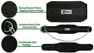 1X-Weight-Lifting-Neoprene-Dipping-Dip-Belt-Heavy-Chain-Train-Fitness-Exercise
