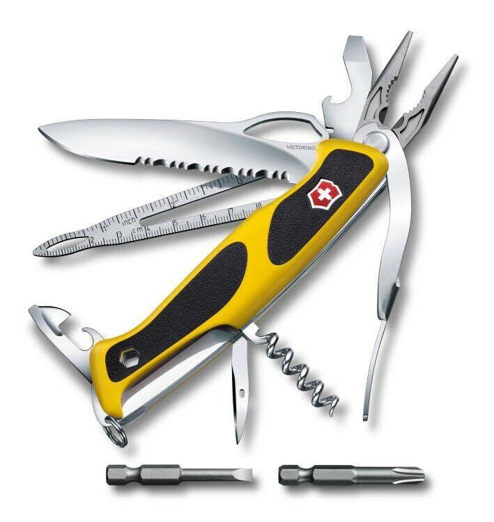 VICTORINOX Taschenwerkzeug Taschenmesser RangerGrip Boatsman gelb 0.9798.MWC8
