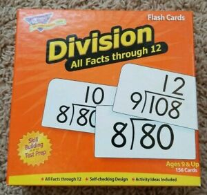 Details about Trend Enterprises - DIVISION 156 FLASH CARDS - All Facts  Through 12