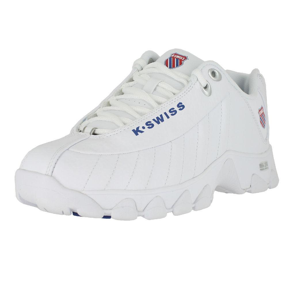 KSWISS ST329 CMF blanc CLASSIC bleu RIBBON rouge 95824 130 femmes US TailleS