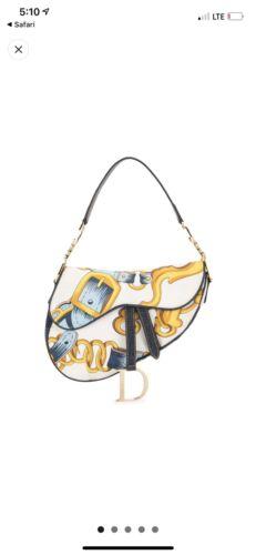Christian Dior Silk Saddle Bag