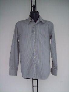 Ferre Camicia Blu Xxl A Righe In E Cotone Panna Marroni Tg dT1xrXT