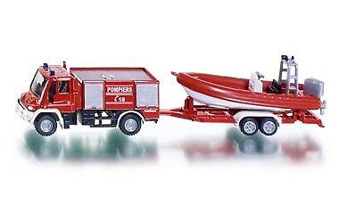 Autos, Lkw & Busse Honig Top 1636 Siku Feuerwehr Mit Boot Frankreich Neu Top