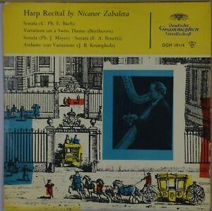 NICANOR-ZABALETA-Harp-Recital-DGG-DGM-19114-England-Large-Tulip-NM