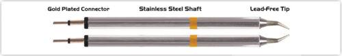"""Micro Fine 0.25mm 0.01/"""" NEW Thermaltronics K70TZ003 Tweezers Cartridge Pair"""