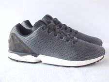 78d5fac515c51 Adidas Original ZX Flux Carbon Black Men s Running Shoes B34485 SIze 12 US