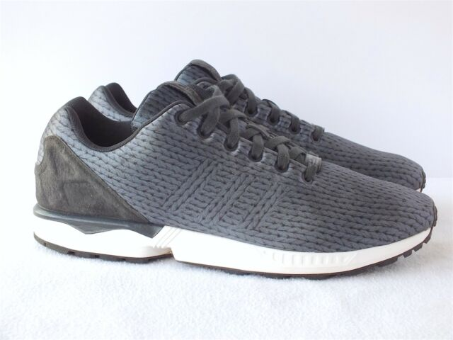 Adidas Original ZX Flux Carbon Black Men's Running Shoes B34485 SIze 12 US