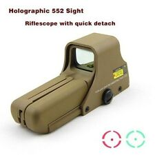 Tan Holographic Télescope Scope 552 Hunting Red Green Laser Dot Sight