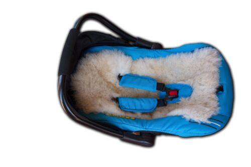 Peau de mouton doublure poussette landau siège voiture doublure mat pour cinq points de harnes