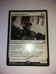 MTG Monastery Mentor NM Fate Reforged Magic the Gathering