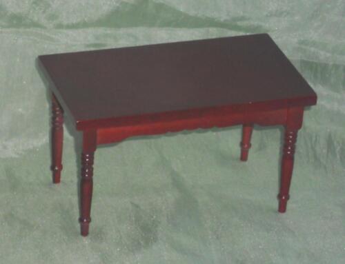 Miniatur f d Küchentisch//Tisch mahagonie Puppenstube #15# Maßstab 1:12