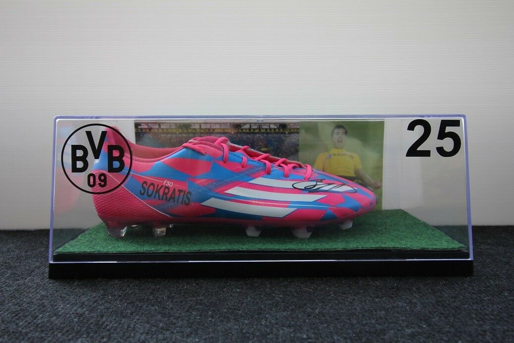 Zapato de soccer, Sokratis firmado, borussia dortmund, BVB, 42