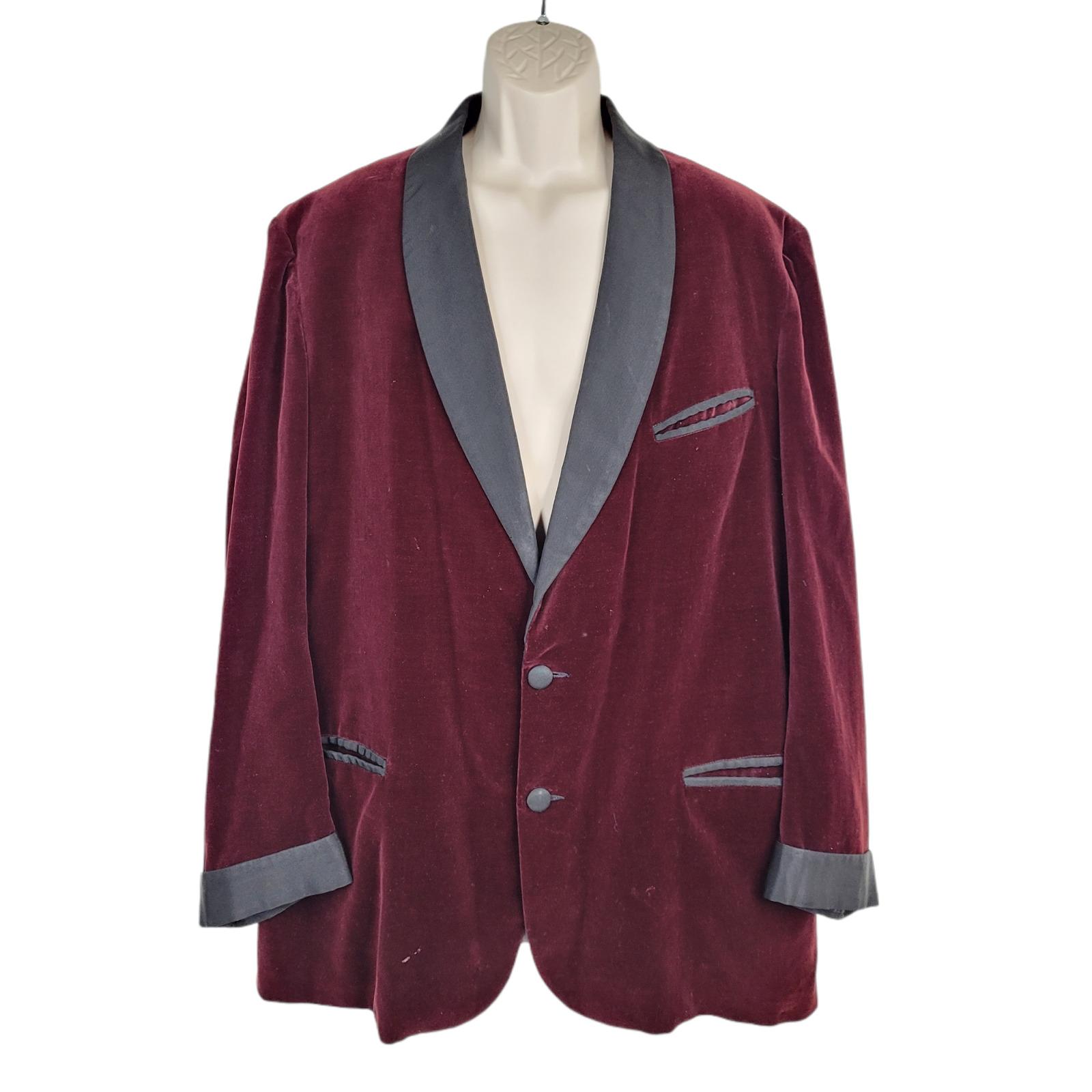 Vintage Langrock Velvet Blazer Mens 2XL Princeton… - image 1