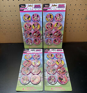 Vintage-4-Packs-Of-8-DISNEY-JUNIOR-MINNIE-8-FOAM-STICKERS-Rare-32-Total-Stickers