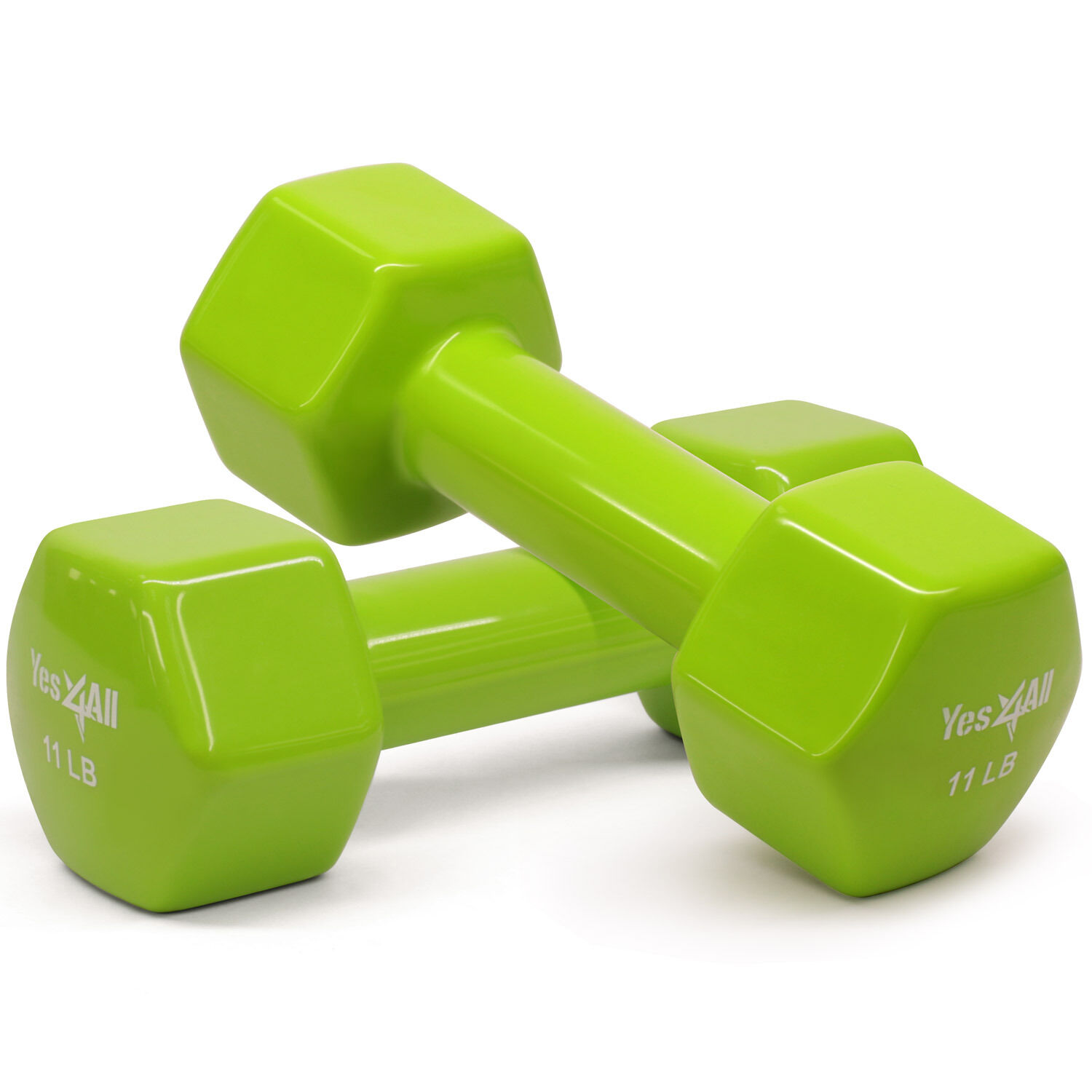 Yes4All Dumbbells PVC Hand Weights 11 lbs Set Dumbbell Exercise - ²7D