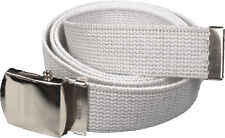 BLACK BELT WITH BLACK BUCKLE 100% Cotton Military Web Belts Rothco 4294