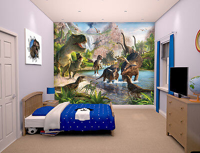 Child's Bedroom Walltastic Dinosaur land Wallpaper Mural