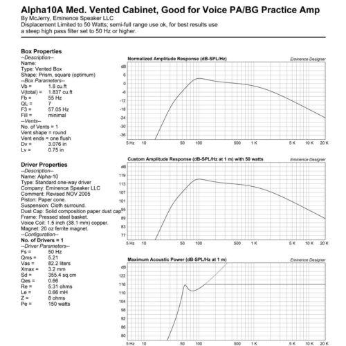 "4x Eminence Alpha-10A 10/"" Midrange 300W MidBass Guitar Speaker PA Woofer 8-ohms."