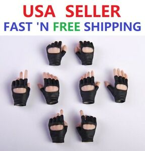 """1//6 Scale Female Black Gloved Hands Gun Hold For 12/"""" PHICEN Hot Toys Figure USA"""