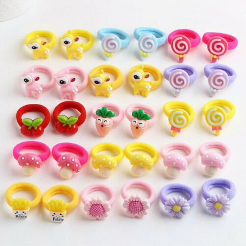 10x Kawaii Candy Color Baby Kid Girl Elastic Hair Band Hair Accessories Set Gift