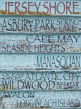 JERSEY SHORE - FINE ART PRINT POSTER 13x19 - BEACHES TOWNS GST112