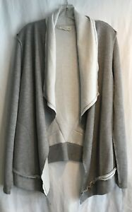 Love-Stitch-Women-s-Open-Front-Cardigan-Sweater-Gray-Color-Boho-Style-Size-L