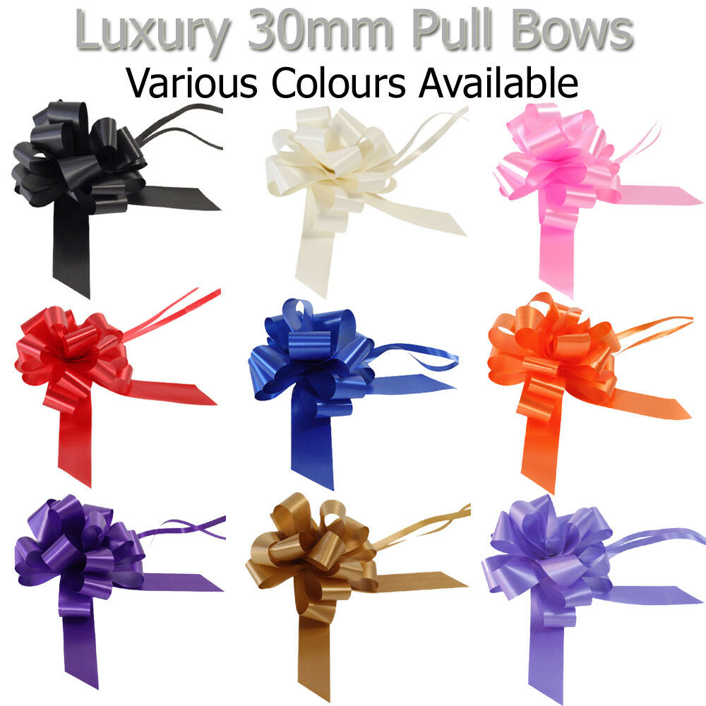 Pull Bows Venue Decorations Cars Gift Present Wrap Party Birthday Celebration
