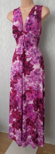 Size14 Stretch Eight Phase Maxi Holiday Pretty Cocktail Ladies Long Summer Dress vwYqwUd