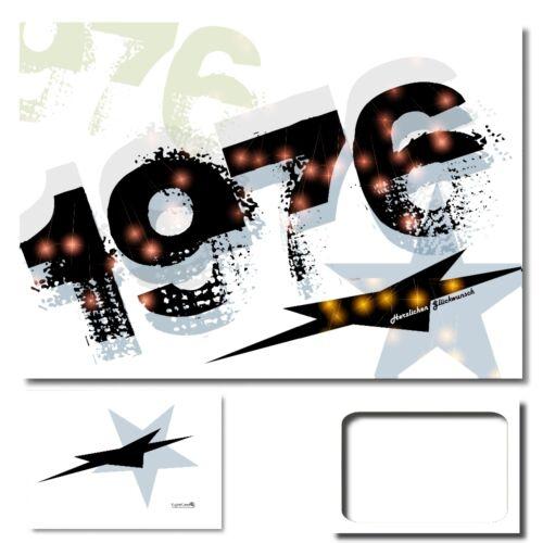 Digitaloase Félicitations Cartes 1976 Carte de voeux XXL CARTE D/'ANNIVERSAIRE ENVELOPPE #012