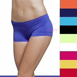 Stretch Seamless Dance Exercise Activewear Yoga Boy shorts Breifs Mini Panties