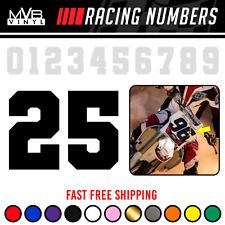 Racing Numbers Vinyl Decal Sticker Dirt Bike Plate Number Varsity College 0841