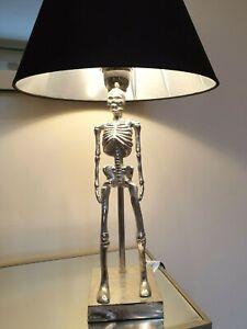 Black Shade Silver Table Lamp Lighting