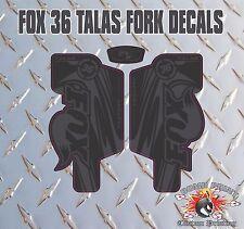Fox 36  FORK Talas Stickers Decals Graphics Mountain Bike Down Hill MTB black