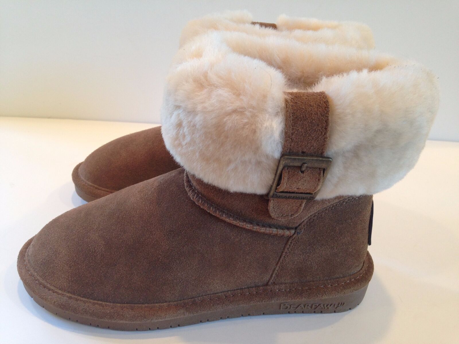 3c761fbe41ab Bearpaw Women s Abby 1257W Hickory Suede Blend Lining Size 5 Wool  obzyvj2913-Women s Boots