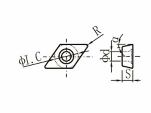 DCMT32.52//DCMT11T308-MV Carbide Turning Inserts Grade PP2115//PVD Coating 10 pcs