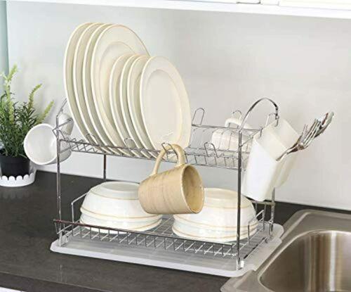 Secador De Platos Escurridor Rack Para Platos Y Jarras Accesorios De Cocina