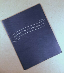 1941 ARMSTRONG CORK LINOLEUM 30-Page Home Decoration Booklet Brochure Pamphlet