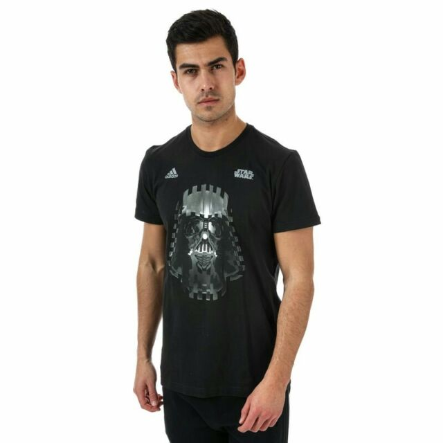 Shirt Rare T Black Med Darth Stripe Star Wars Mens Vader 3 Tee Adidas Originals Ybfgyv76