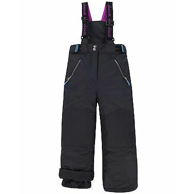 Deux par Deux Girls' Technical Snowpants Black, Sizes 7-14