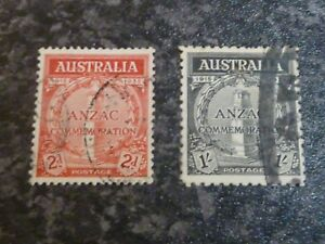 AUSTRALIA POSTAGE STAMPS SG154-155 FINE USED & HEAVY USED