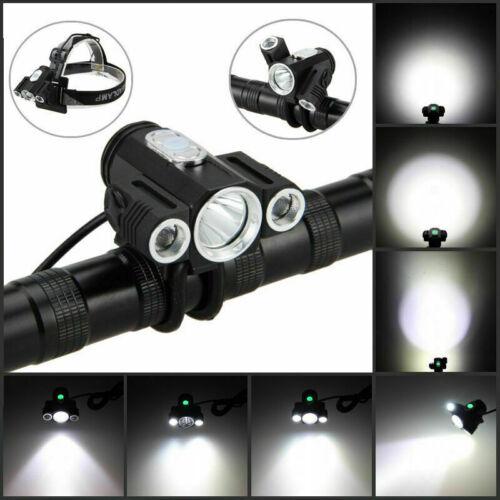 10000LM 3x XM-L T6 LED Adjust Angle Front Bicycle Light Bike Head Lamp Battery